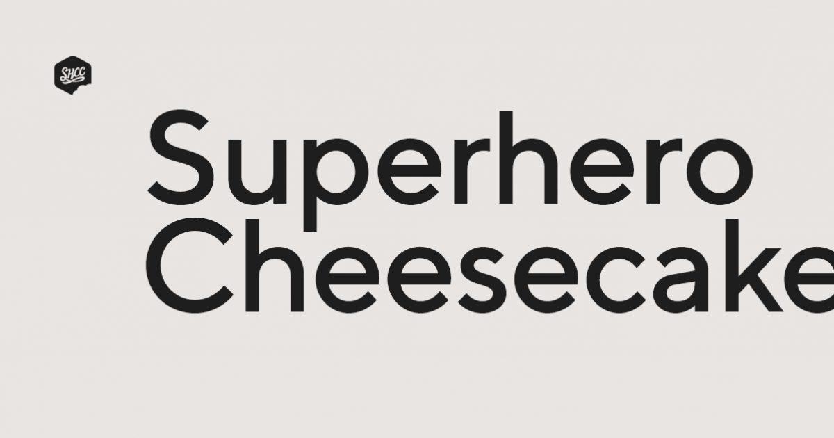 Superhero Cheesecake